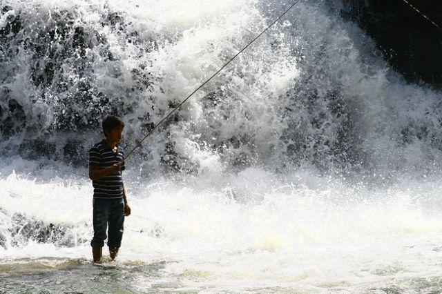 Zdjęcia: Płaskowyż Bolaven, Poławiacz, LAOS