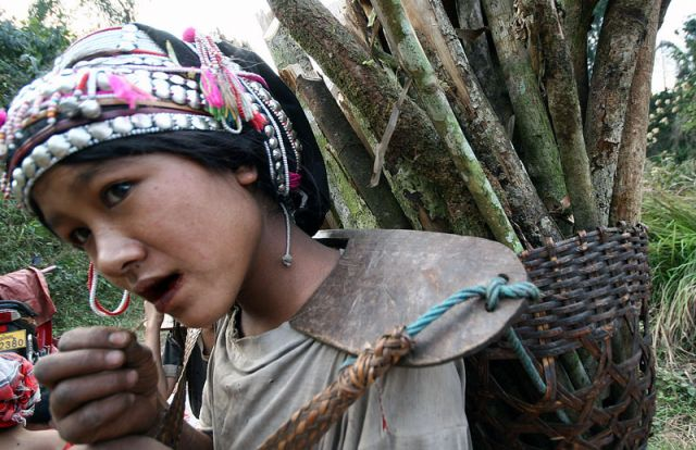 Zdjęcia: MUANG SING Plemie AKHA, AKHA2, LAOS
