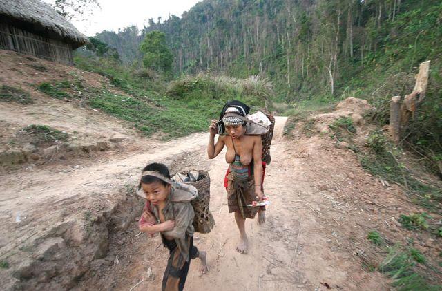 Zdjęcia: MUANG SING Plemie AKHA, AKHA#, LAOS