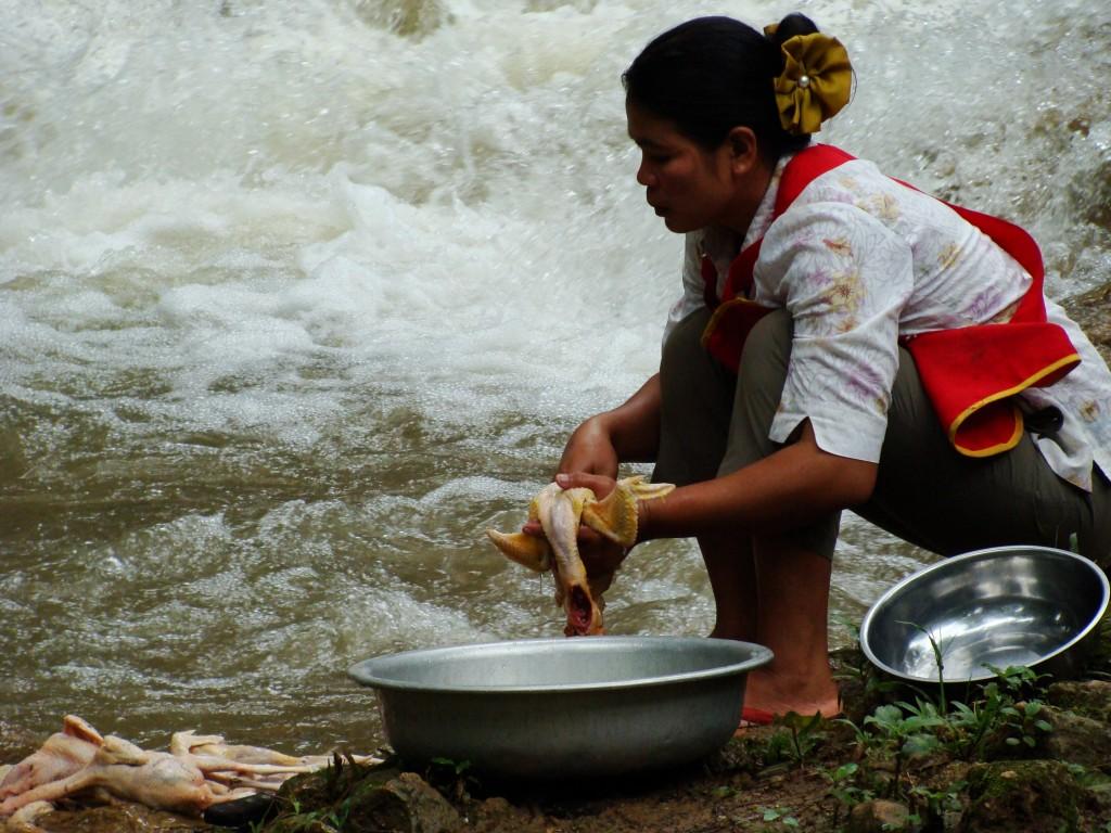 Zdjęcia: okolice Luang Prabang, ciekawe zajęcie, LAOS