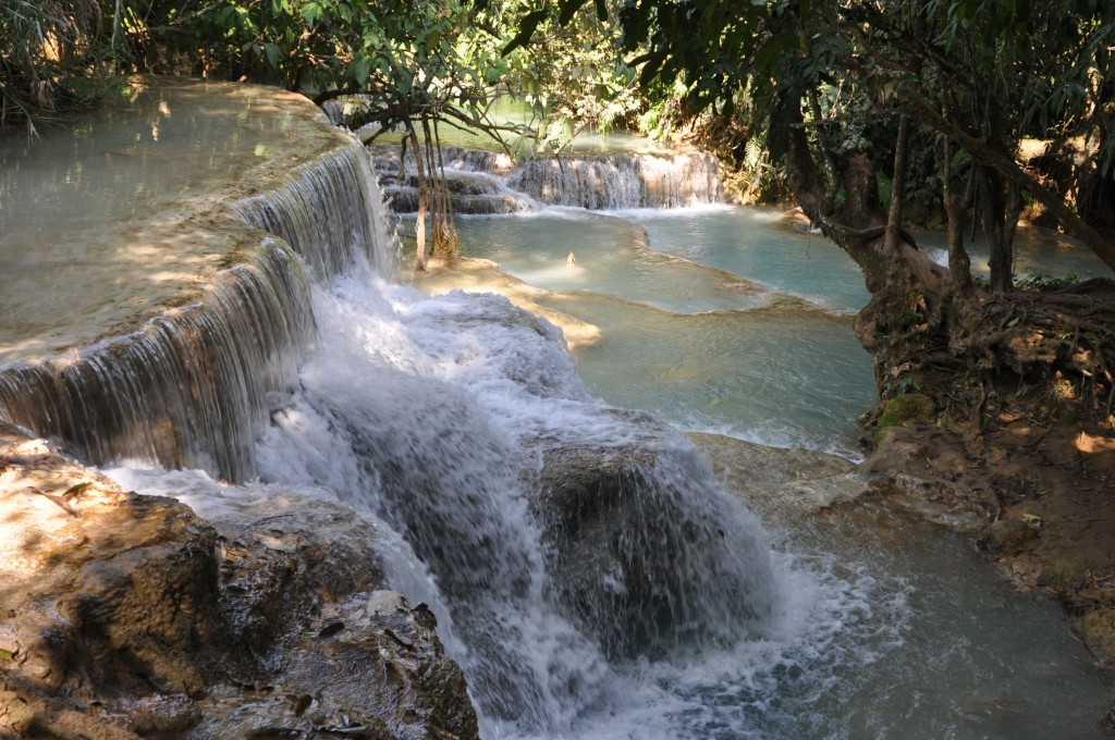 Zdjęcia: Wodospad Kuang Si, północny Laos okolice Louangphrabang, Wodospad, LAOS