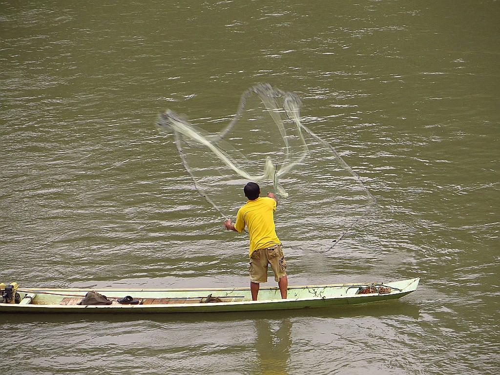 Zdjęcia: Luang Prabang, Laos północny, połów ryb na Nam Khan, LAOS