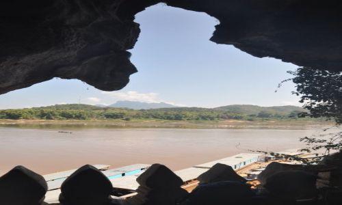 Zdjęcie LAOS / Luang Prabang / Pak Ou / Mekong z jaskini Pak Ou
