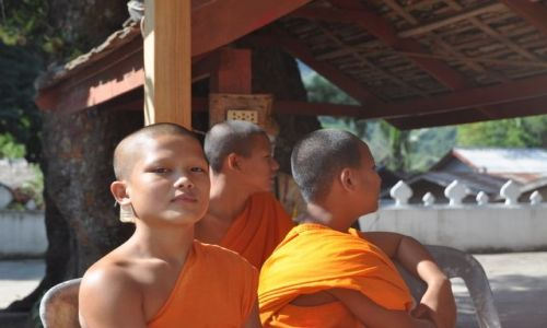 Zdjęcie LAOS / Luang Prabang / Luang Prabang / Młodzi mnisi