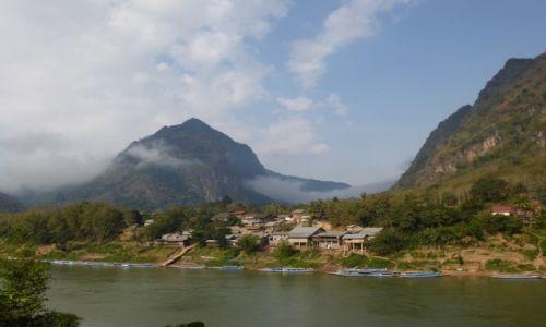 Zdjecie LAOS / północ / Nong Khiaw / poranna mgła (ale o świcie było gorzej)