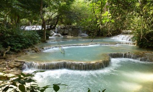 Zdjecie LAOS / region Luang Prabang / Kouang Si Waterfall / Jeden z piękniejszych wodospadów z kilkoma progami