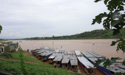Zdjecie LAOS / Huay Xai / Huay Xai / Przystań łodzi wycieczkowych do Luang Prabang