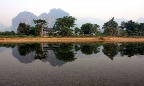 Zdjecie LAOS / Prowincja Vientiane / Vang Vieng / Poranek nad rzeką Nam Song