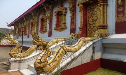 Zdjecie LAOS / aga / Wat Mahathat, / Naga