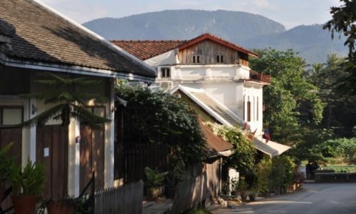 Zdjecie LAOS / północny Laos / Louangphrabang / Uliczka