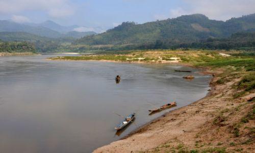 Zdjecie LAOS / północny Laos / wioska nad Mekongiem / Widok na Mekong