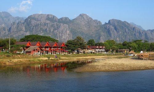 Zdjęcie LAOS / Laos północny / Vang Vieng / widok na rzekę
