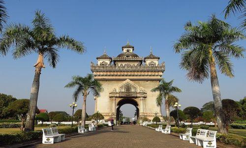 Zdjecie LAOS / Laos północny / Vientiane / Patuxay - pomnik zwycięstwa