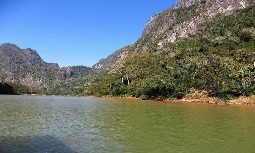 LAOS / Laos północny / okolice Nong Khiaw / przełomy rzeki Ou