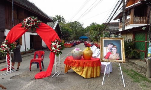 Zdjęcie LAOS / Laos północny / Luang Prabang / przygotowania do wesela