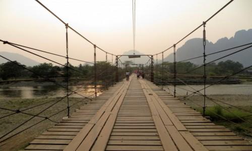 Zdjecie LAOS / prowincja Wientian / Van Vieng / most nad Nam So