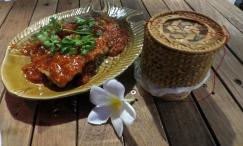 Zdjecie LAOS / Vientian / Pha Khao Lao Restaurant / Rybka pychotka