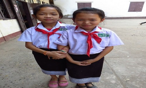 Zdjęcie LAOS / Laos północny / Vientiane / uczennice