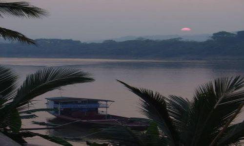 Zdjecie LAOS / brak / Luang Prabang / Zachód słońca nad Mekongiem