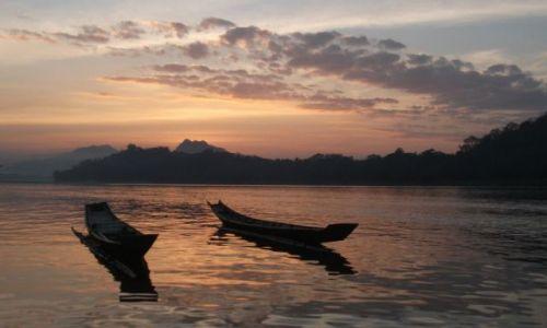 Zdjecie LAOS / Luang Prabang / rzeka Mekong / ... para ...