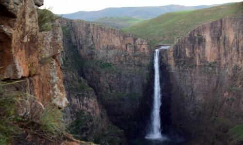LESOTHO / Płd. Lesoto / Semonkong / Wodospad Maletsunyane