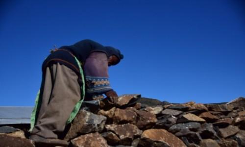 Zdjecie LESOTHO / Płd. Lesoto / Malealea / Naprawiając płot