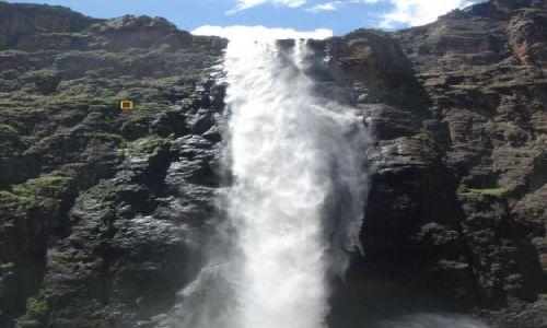 LESOTHO / Semonkong / Maletsunyane Falls / abseiling