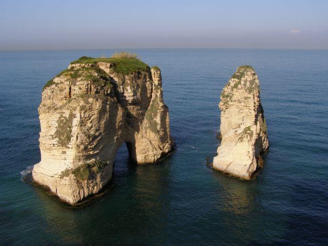 Zdjęcia: Bejrut, skaly golebie, LIBAN