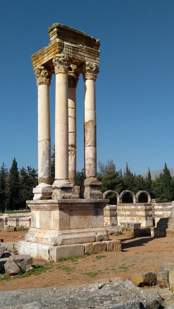 Zdjęcia: Anjar, Dolina Bekaa, Kolumna kolumn, LIBAN