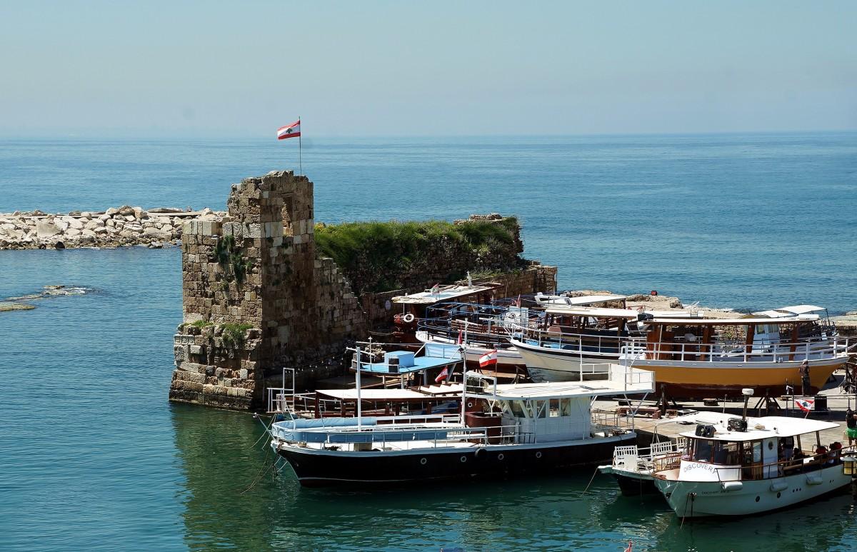 Zdjęcia: Byblos, Bejrut, W starym porcie, LIBAN
