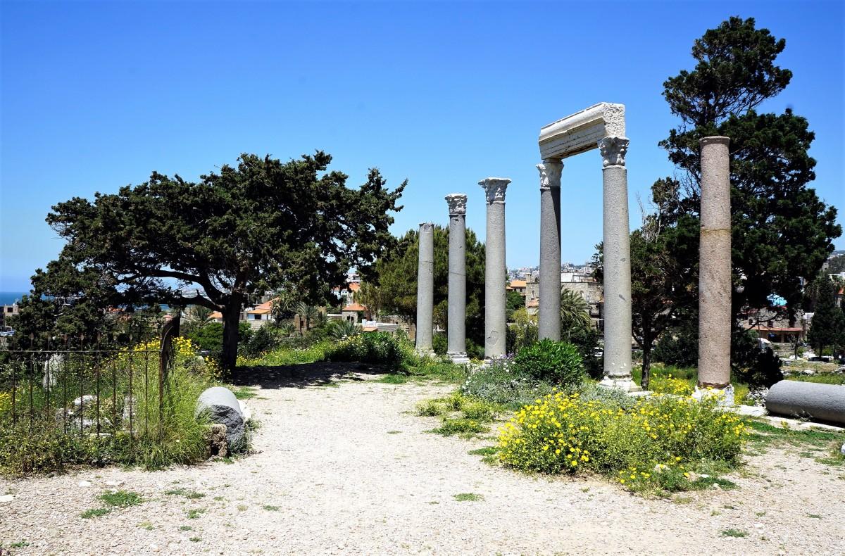 Zdjęcia: Byblos, Bejrut, Rzymskie kolumny, LIBAN