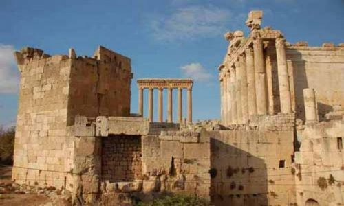 LIBAN / Dolina Bekaa / Baalbek / Ruiny