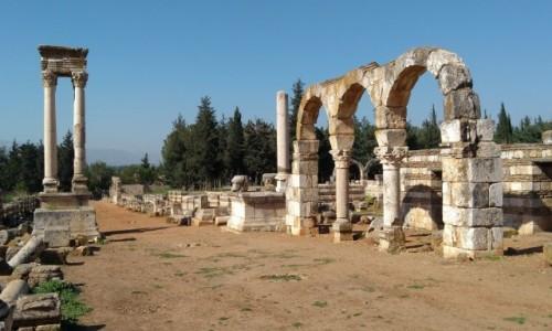 Zdjęcie LIBAN / Dolina Bekaa / Anjar / Promenada