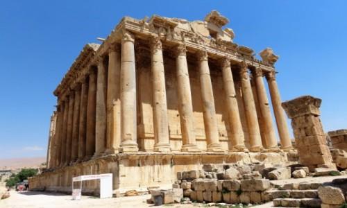 Zdjecie LIBAN / Kada Baalbek / Baalbek / Świątynia Bachusa