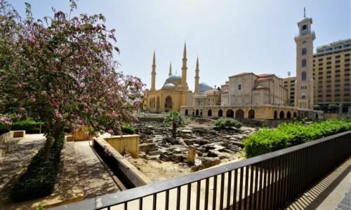 Zdjęcie LIBAN / Bejrut / . /  Katedra Św. Jerzego i Meczet Mohammad Al-Amin