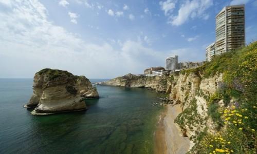 Zdjecie LIBAN / Bejrut / Raouche / Skalisty brzeg