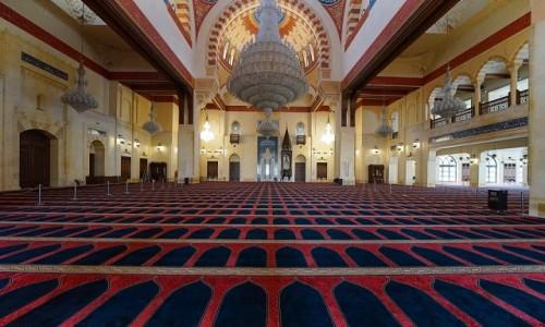 Zdjecie LIBAN / Bejrut / Meczet Mohammad Al-Amin / Wnętrze