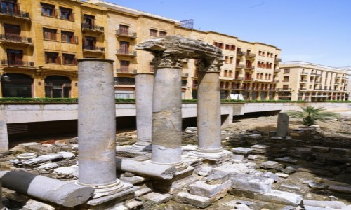 Zdjecie LIBAN / Bejrut / . / Na gruzach starożytnego miasta