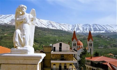 Zdjecie LIBAN / Dolina Kadisha / Bcharre / Pejzaż z aniołem