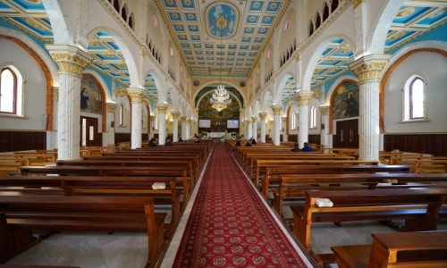 Zdjecie LIBAN / Dolina Kadisha / Bcharre / Our Lady of Bcharri (wnętrze)