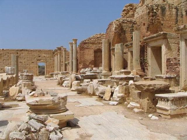 Zdjęcia: Leptis Magna, Trypolitania, Forum, LIBIA