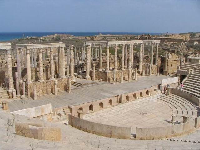 Zdjęcia: Leptis Magna, Trypolitania, Amfiteata, LIBIA