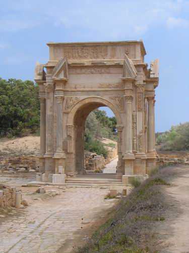Zdjęcia: Leptis Magna, Trypolitania, Łuk Septymiusza Sewera, LIBIA
