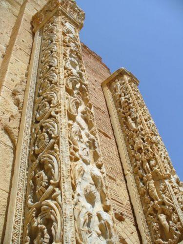 Zdjęcia: starożytne miasto -sala kolumnowa, Leptis Magna, koronkowa robota, LIBIA