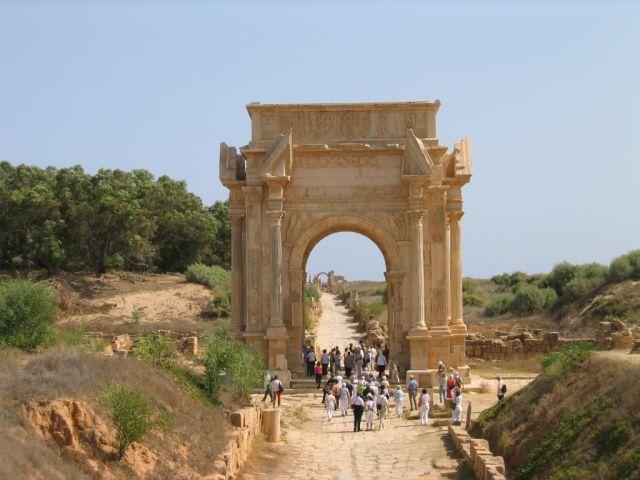 Zdjęcia: Leptis Magna, Łuk Septymiusza Sewera, LIBIA