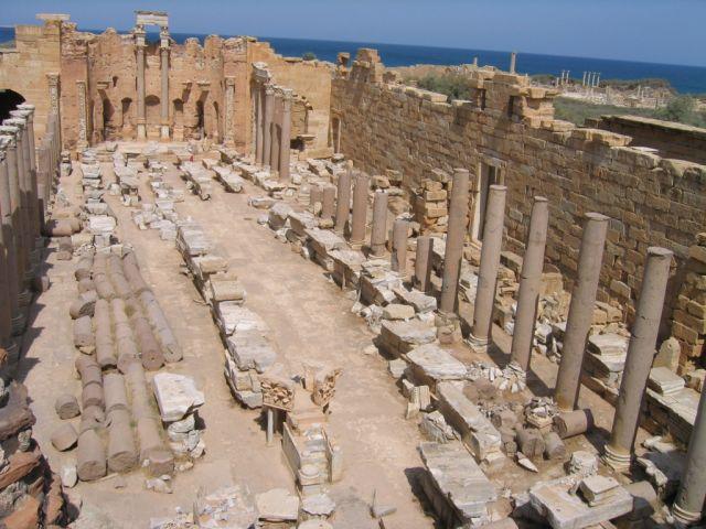 Zdjęcia: Bazylika Sewerów, Leptis Magna, Bazylika Sewerów, LIBIA
