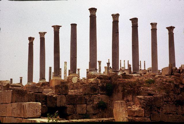Zdjęcia: Laptis Magna, trypolitania, kolumnada, LIBIA