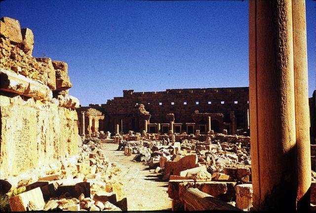 Zdjęcia: Laptis Magna, trypolitania, widok na amfiteatr, LIBIA