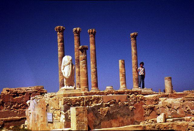 Zdjęcia: Laptis Magna, trypolitania, statua, LIBIA