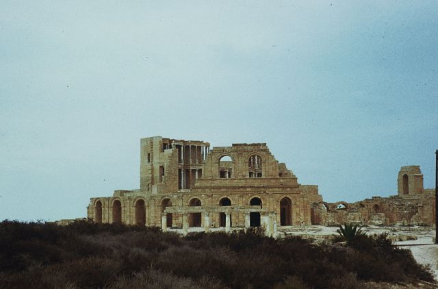 Zdjęcia: Sabratha, trypolitania, widok na amfiteatr, LIBIA